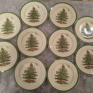5 Spode plates- order part 1 of 2